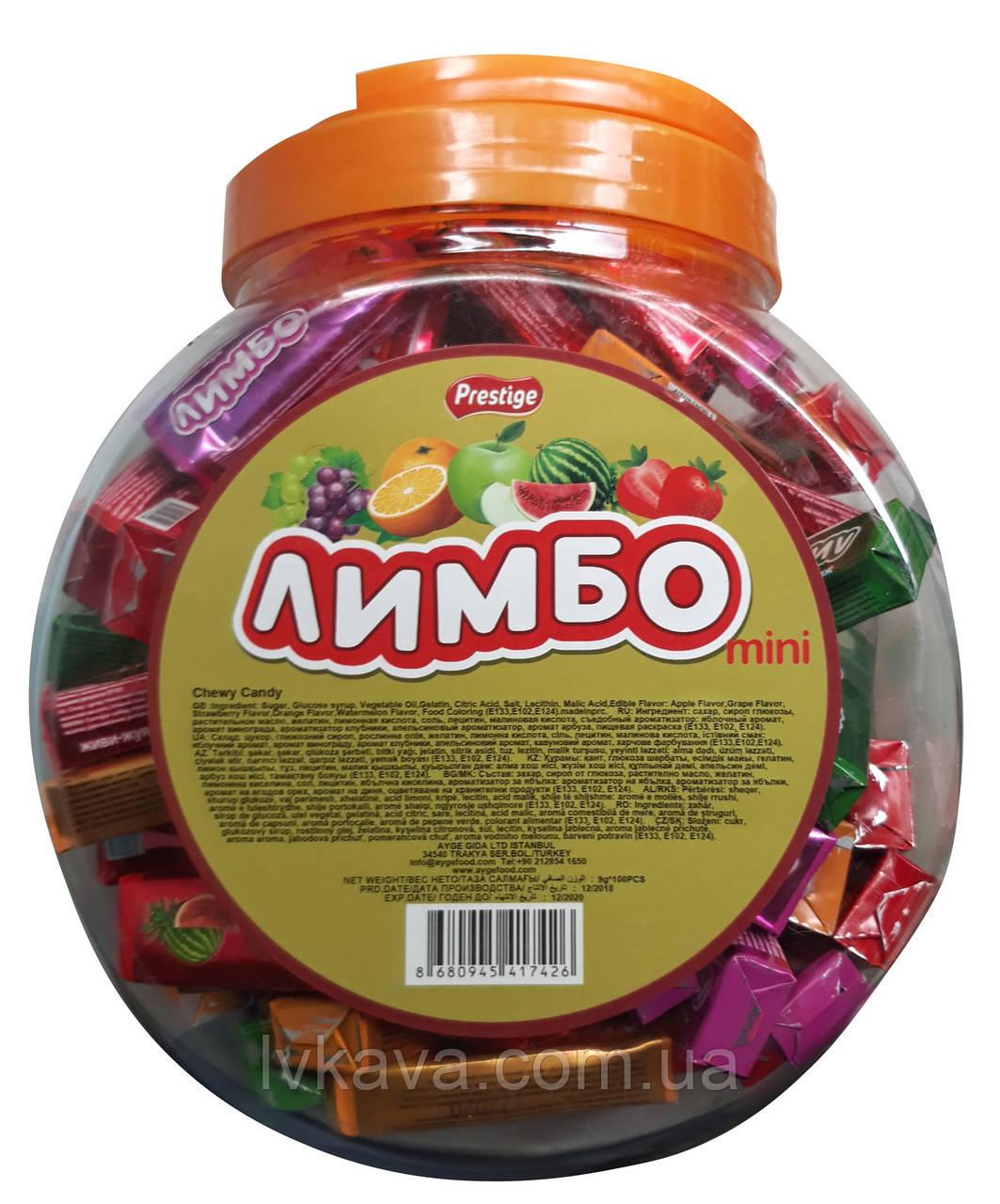 Жевательные конфеты Лимбо мини  ,  9 гр х 100 шт