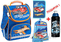 "Комплект. Рюкзак школьный каркасный Hot Wheels HW18-501S-2 + пенал + сумка, ТМ ""Kite"""