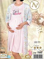 Комплект халат и сорочка  для  беременных и кормящих  Nicoletta , фото 1