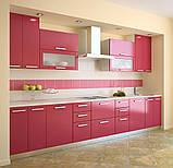 Розовая кухня ViAnt на заказ любой формы Киев и область, фото 6