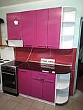 Розовая кухня ViAnt на заказ любой формы Киев и область, фото 9