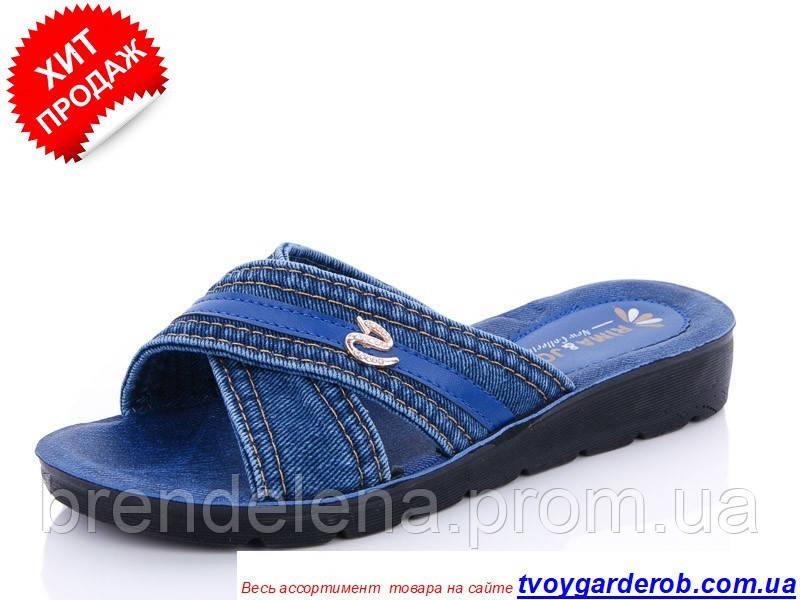 Женские джинсовые шлепанцы  р 37-41(код 2011-00)