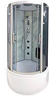 Гидробокс Badico 088 CN 100х100х215 CARRARA NATURAL, глубокий поддон, тонированное стекло