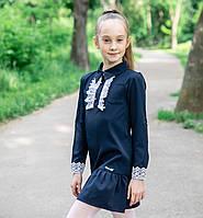 """Школьное платье для девочки с кружевом """"Изысканность"""""""