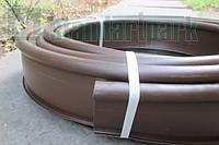 Бордюр садовый пластиковый Кантри коричневый