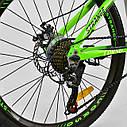 """Спортивный велосипед зеленый CORSO Strange 24 дюймов 21 скорость алюминиевая рама 13"""" детям от 8 лет, фото 5"""