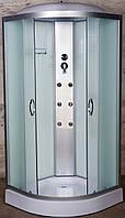 Гидробокс 90х90 Vivia ECO 61 CH W низкий поддон, матовое стекло