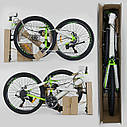 """Спортивный велосипед зеленый CORSO Strange 24 дюймов 21 скорость алюминиевая рама 13"""" детям от 8 лет, фото 9"""