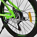 """Спортивный велосипед зеленый CORSO Strange 24 дюймов 21 скорость алюминиевая рама 13"""" детям от 8 лет, фото 8"""