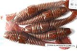 Силиконовая приманка съедобная Tube Worm (Трубчатый Червь), TBR-013, цвет 010, 5шт., фото 5