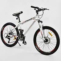"""Спортивный велосипед белый CORSO Strange 24 дюймов 21 скорость алюминиевая рама 13"""" детям от 8 лет"""