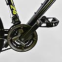 Спортивный велосипед черный CORSO Strange 24 дюймов 21 скорость алюминиевая рама детям от 8 лет, фото 7