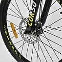 Спортивный велосипед черный CORSO Strange 24 дюймов 21 скорость алюминиевая рама детям от 8 лет, фото 6