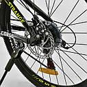 Спортивный велосипед черный CORSO Strange 24 дюймов 21 скорость алюминиевая рама детям от 8 лет, фото 5