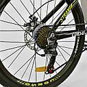 Спортивный велосипед черный CORSO Strange 24 дюймов 21 скорость алюминиевая рама детям от 8 лет, фото 4