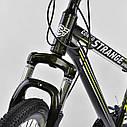 Спортивный велосипед черный CORSO Strange 24 дюймов 21 скорость алюминиевая рама детям от 8 лет, фото 9