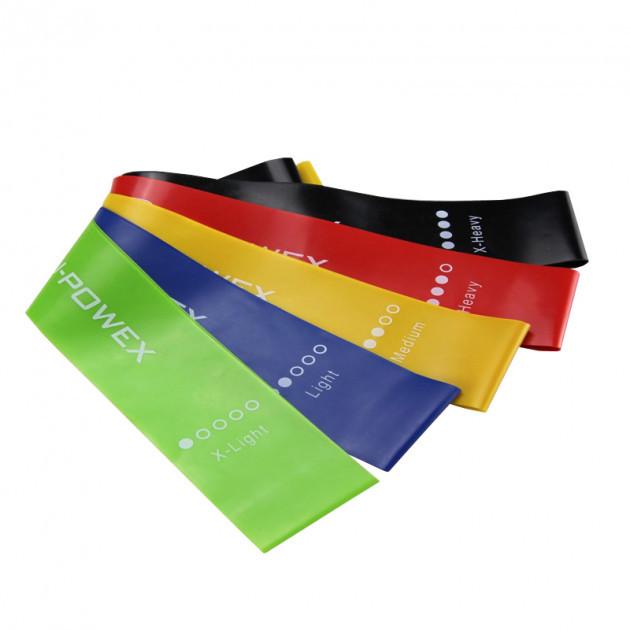 Набор спортивных резинок для фитнеса йоги резиновые ленты U-POWEX Комплект из 5 штук