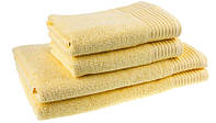 "Полотенце (70х140 см) махровое банное ""Terry Lux 400"" желтое, фото 1"