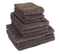 "Полотенце (70х140 см) махровое банное коричневое ""STYLE 500"" микрокотон, 100% хлопок, фото 1"