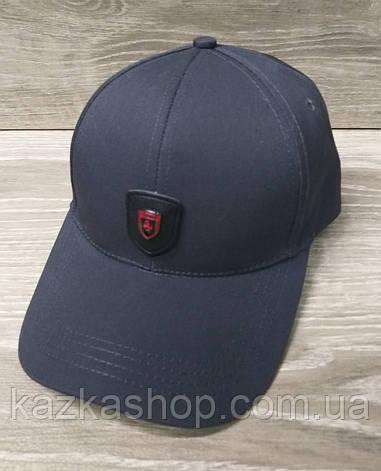 Мужская  бейсболка, кепка, со вставкой, размер 56-58, на регуляторе, фото 2
