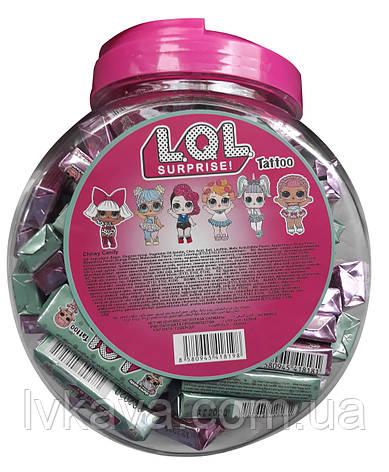 Жевательные конфеты L.O.L. surprise! tattoo  ,  9 гр х 100 шт, фото 2