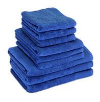 "Полотенце (70х140 см) махровое банное синее ""STYLE 500"" микрокотон, 100% хлопок, фото 1"
