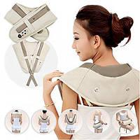Ударный вибро массажер для шеи плеч спины и поясницы Cervical Massage Shawls