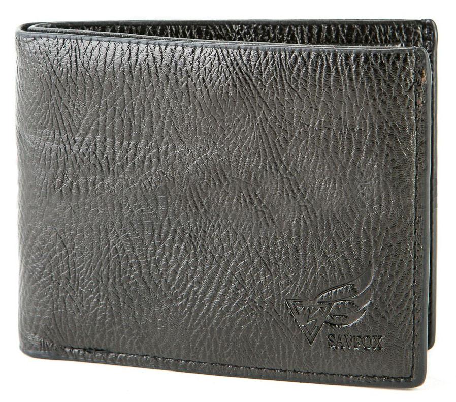 Мужской компактный кошелек из кожзама BR-S черный 971320154