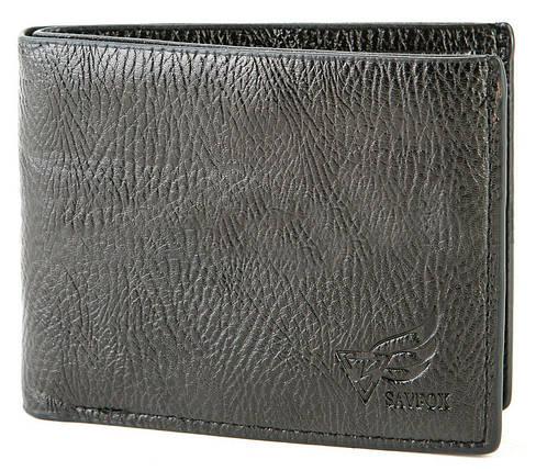 Мужской компактный кошелек из кожзама BR-S черный 971320154, фото 2