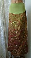 Юбка женская в пол беременным шикарная нарядная макси бренд Cache Cache р.44-46