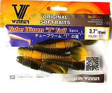 Силиконовая приманка съедобная Tube Worm (Трубчатый Червь), TBR-013, цвет 034, 5шт.
