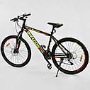 Спортивный велосипед черный с желтым CORSO DRAGON 26 дюймов 21 скорость алюминиевая рама 17дюймов, фото 3