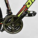 Спортивный велосипед черный с желтым CORSO DRAGON 26 дюймов 21 скорость алюминиевая рама 17дюймов, фото 4