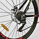 Спортивный велосипед черный с желтым CORSO DRAGON 26 дюймов 21 скорость алюминиевая рама 17дюймов, фото 7