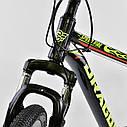 Спортивный велосипед черный с желтым CORSO DRAGON 26 дюймов 21 скорость алюминиевая рама 17дюймов, фото 6
