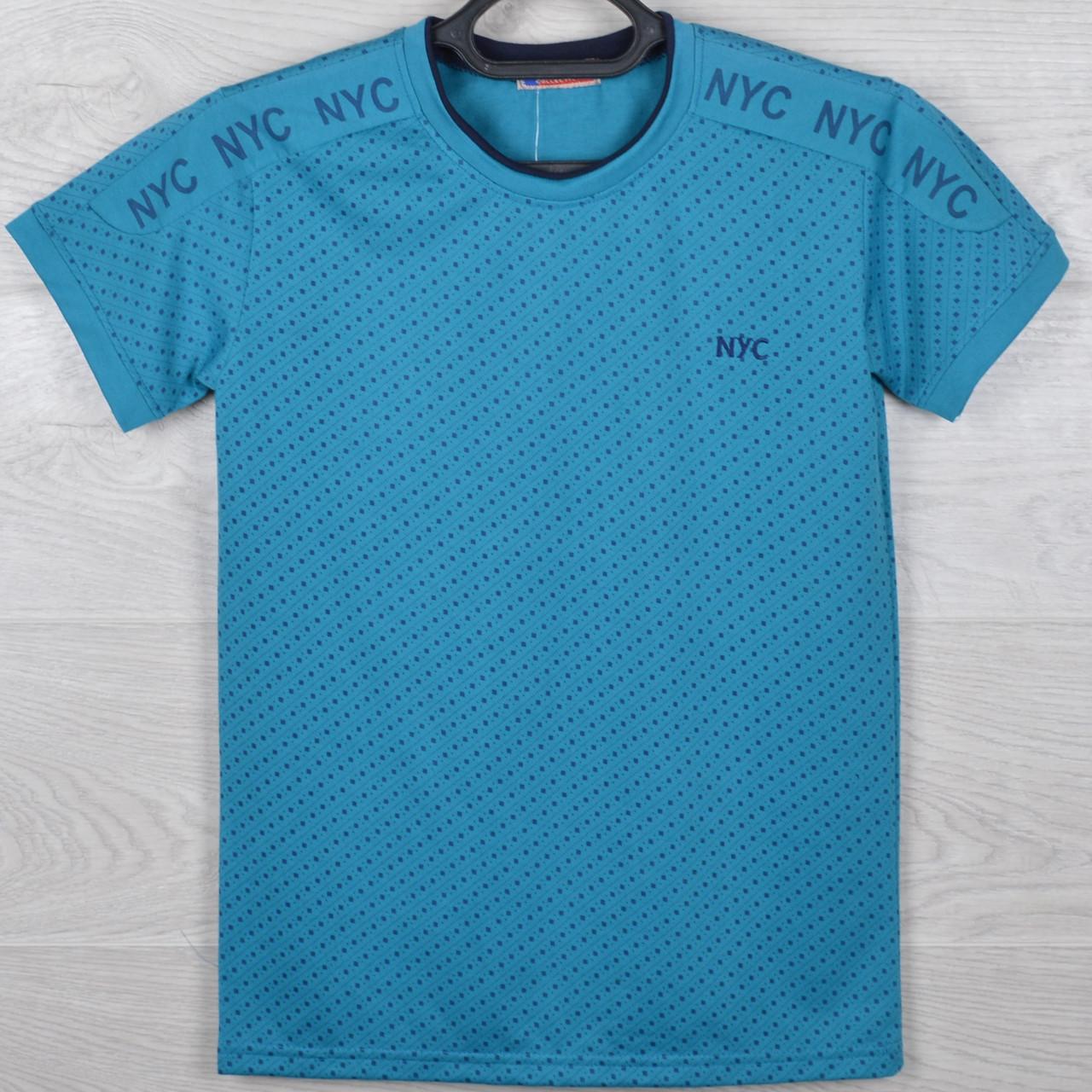 """Футболка юниор """"NYC"""" для мальчиков. Размер 42-46. Разные цвета в упаковке. Оптом"""
