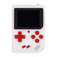 Портативная игровая ретро приставка 400 игр dendy денди SEGA 8bit SUP Game Box белая