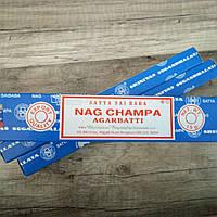 Аромапалочки Наг Чампа, Nag Champa Satya, 15г
