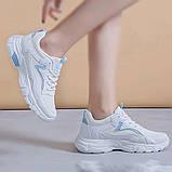 Белые кроссовки на платформе с сеточкой, фото 3