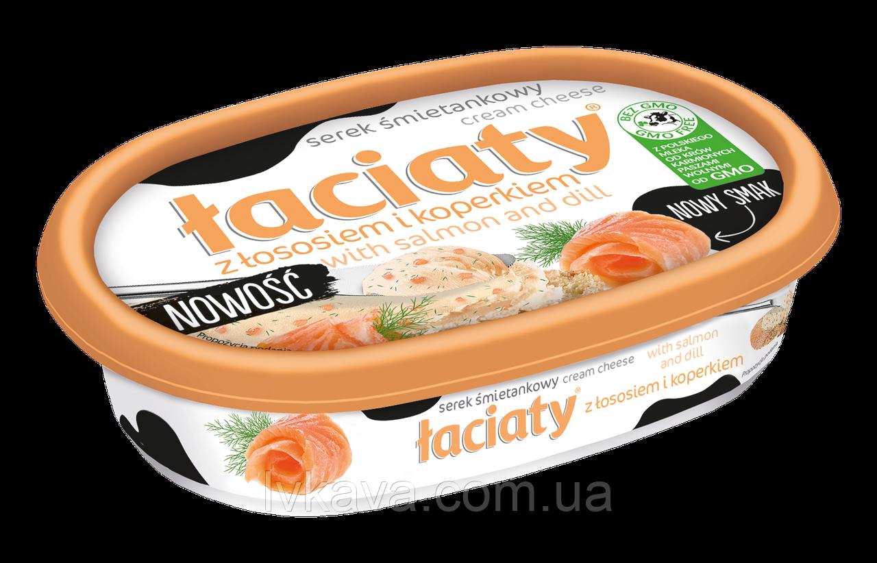 Сыр сливочный Laciaty с лососем и укропом , 135 гр