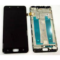 Дисплей (экран) для Asus ZenFone 4 Max 5.2 дюймов (ZC520KL) + тачскрин, черный, с передней панелью