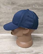 Мужская бейсболка, кепка, материал лакоста, без вышивки и вставок, размер 57-58, на регуляторе, фото 3