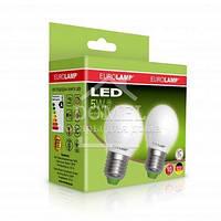 """Набор ламп LED EUROLAMP ЕКО серія """"Е"""" G45 6W E14 4000K акція 1+1 (25)"""