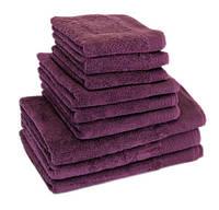 "Полотенце (50х90 см) махровое фиолетовое ""STYLE 500"" микрокотон, 100% хлопок, фото 1"