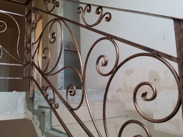 Кованые перила для лестниц 2