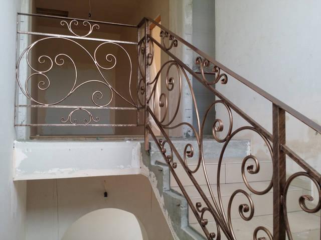 Кованые перила для лестниц 3