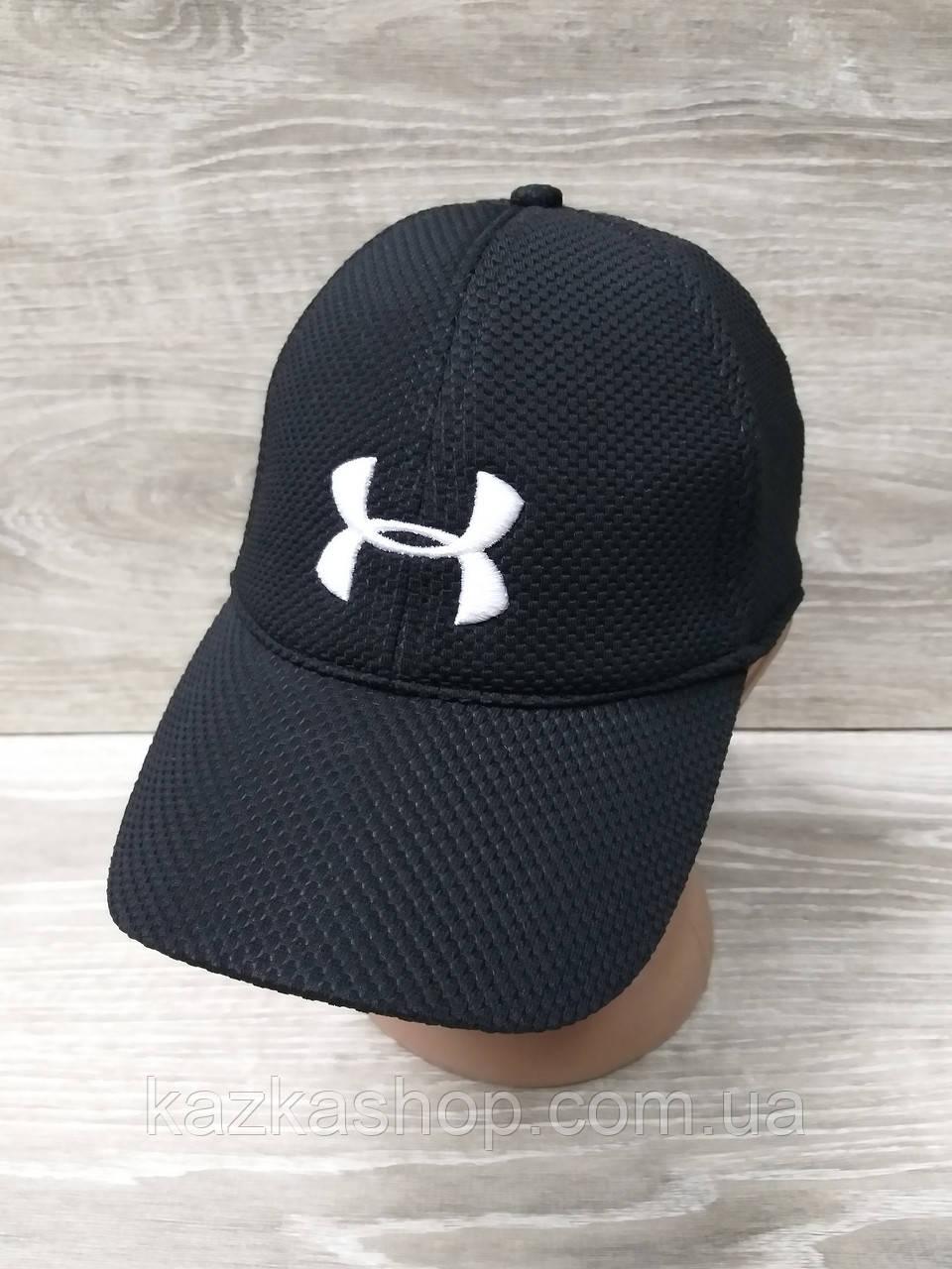 Мужская бейсболка, кепка, материал лакоста, вставка UA, размер 57-58, на регуляторе