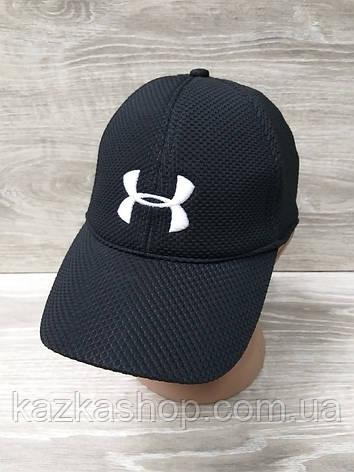 Мужская бейсболка, кепка, материал лакоста, вставка UA, размер 57-58, на регуляторе, фото 2