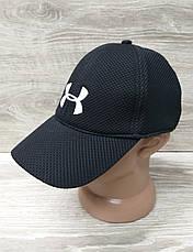 Мужская бейсболка, кепка, материал лакоста, вставка UA, размер 57-58, на регуляторе, фото 3