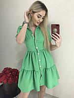 Платье мини на пуговицах, фото 1
